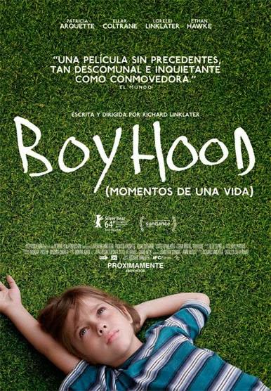 Póster de boyhood, ganadora Globos de oro 2015