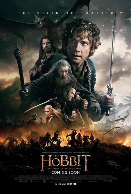 Póster de El Hobbit: La batalla de los cinco ejércitos
