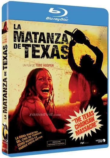 Carátula blu-ray La Matanza de Texas