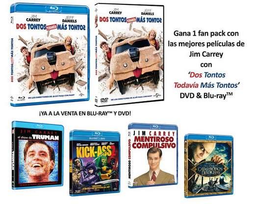 Concurso fan pack de jim Carrey, estreno Dos Tontos todavía más tontos