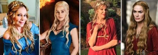 Ana Obregón es Daenerys Targaryen en el rodaje de Santiago Apóstol