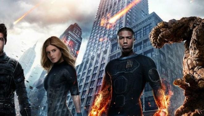 Los Cuatro Fantásticos cartel personajes