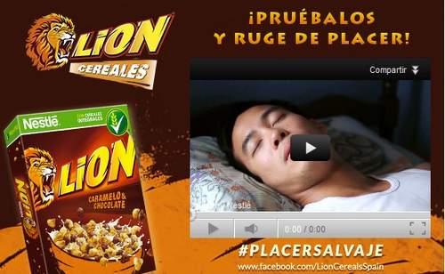 Cereales Lion de Nestlé