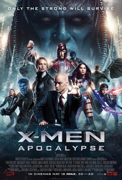 Póster de X-Men: Apocalipsis. Crítica de X-Men: Apocalipsis