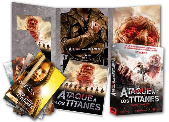 """Blu-ray de """"Ataque a los titanes"""" parte 1 y 2"""