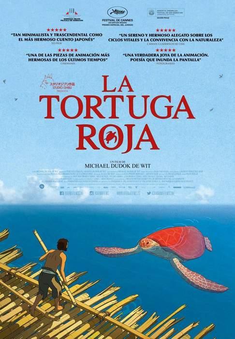 """Póster y crítica de """"La tortuga roja"""""""