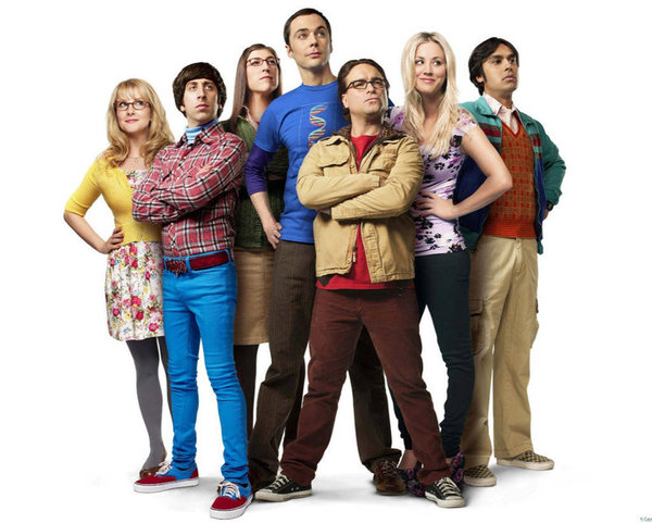 "Fans de la serie ""The big bang theory"""