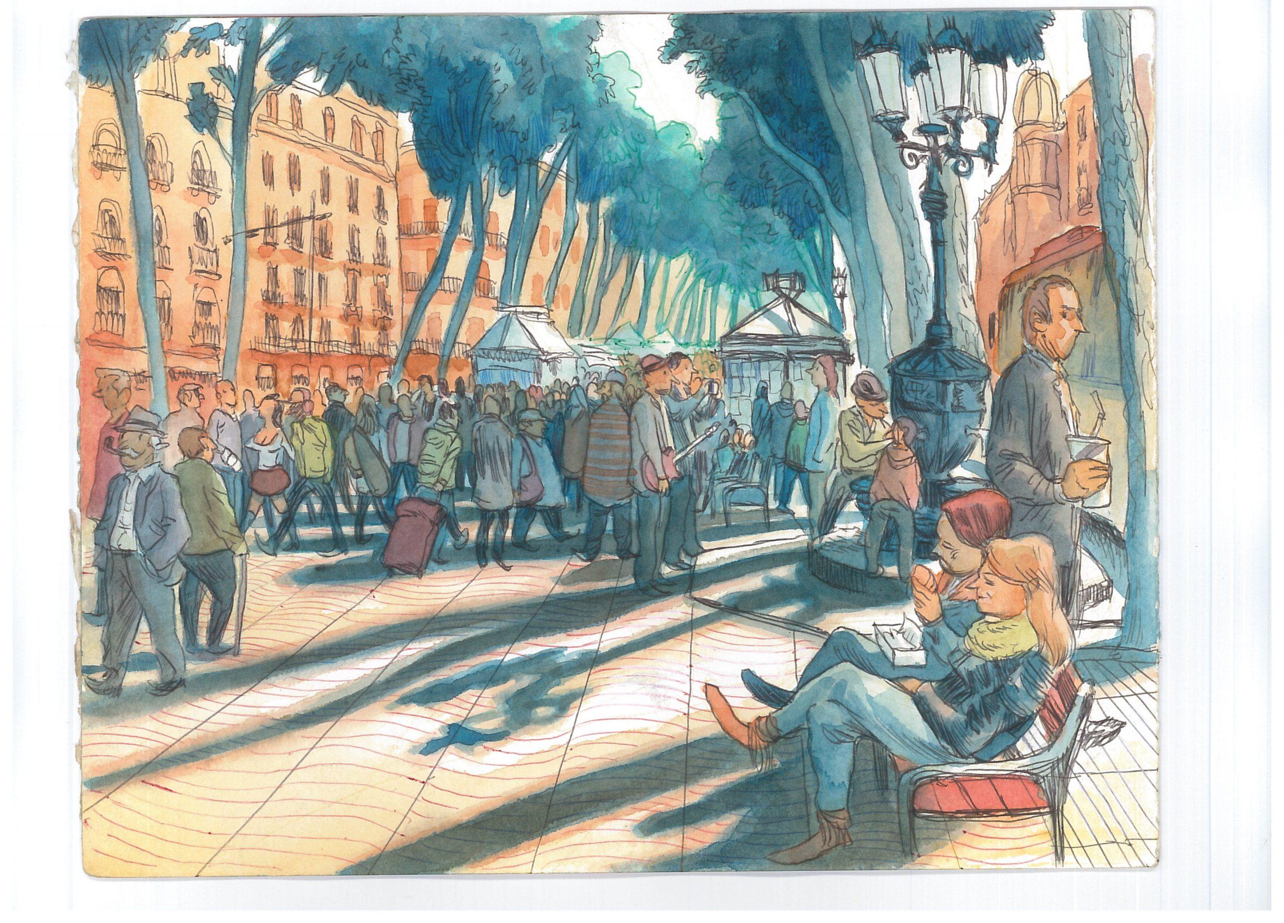 """""""Estamos en Barcelona: Sagar. El dibujante y la ciudad"""" en B The Travel Brand Xperience"""